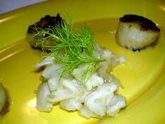 Stegte kammuslinger med pastis og fennikel