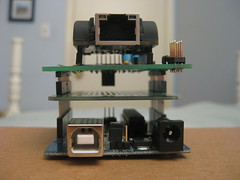 Arduino, Protoshield, and Ethernet shield