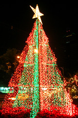 Christmas Tree at Evergreen Laurel Hotel, Bangkok Thailand