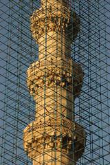 selimiye mosque's minaret under renovation... (queen recluse) Tags: scaffolding minaret mosque restoration renovation selimiye