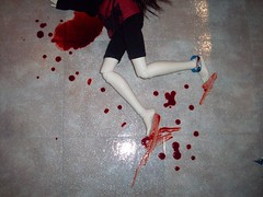 She lost the battle (DisorderedCutUp) Tags: alexandria death blood suicide zaoll