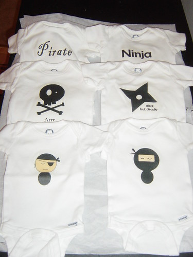 ninja_pirate onesies