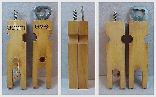 Adam and Eve — bar tools set (almost anatomically correct) by EraPhernalia Vintage (here . . . every now & then).