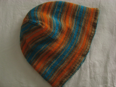 Striped toque flat
