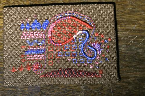 A stitch sampler