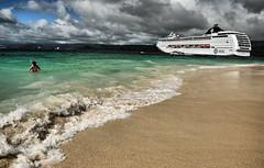 Too Close for Comfort (Jeff Clow) Tags: travel cruise vacation tourism beach island dangerous ship dominicanrepublic explore tropical caribbean unusual samana nikond300 jeffrclow