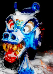 Don't Mess With This Dragon! (LostMyHeadache: Absolutely Free *) Tags: blue winter red wild white snow canada black cold calgary yellow night mouth outside outdoors zoo lights evening crazy eyes glow dragon walk teeth flash horns hike adventure alberta flare creature 2008 calgaryzoo nostrils wildlights davidsmith enmax transalta lostmyheadache transaltawildlights