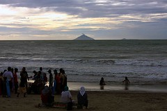 Krakatau (Mangiwau) Tags: west beach sumatra indonesia island volcano java south hijab tsunami straight volcanic cerita eruption pantai selat 1883 sunda carita sumatera anyer krakatau banten cataclysmic