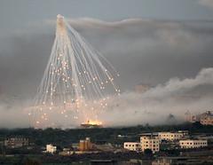 Un bombardeo sobre Gaza