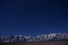 Beautiful Eastern Sierras & Stars (Tom Lowe @ Timescapes) Tags: moon snow night stars whitney 24mm sierras lonepine earthandspace Astrometrydotnet:status=failed 5dmarkii 5d2 Astrometrydotnet:id=alpha20090267560725
