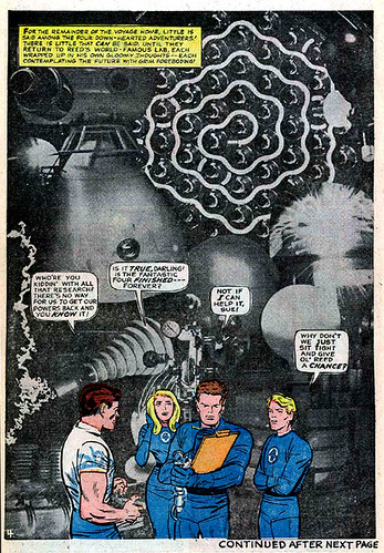 Jack Kirby photomontage from Fantastic Four #39 (June 1965)