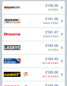 Sccope price comparison table