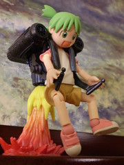 Yotsuba & the Jet Pack (Sasha's Lab) Tags: macro toy actionfigure flying action background alien flight jet manga pack figure scifi backdrop rocket koiwai jamesbond jetpack airtravel rocketeer kaiyodo yotsubato yotsuba revoltech  girlsandtoys toyswithtoys enjoytravel