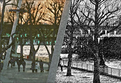 (the photo workshop) Tags: christmas england london weird diptych selection 100mm southbank filter promenade split 2008 embankment hungerfordbridge coloredpencil colouredpencil graphicpen 122008 20083201