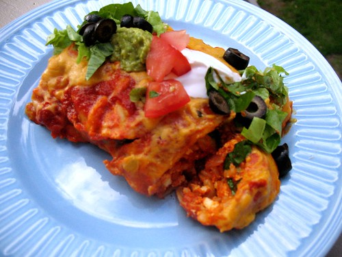 Tofu & Veggie Enchiladas