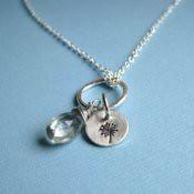 Wish: Dandelion and Prehnite Necklace