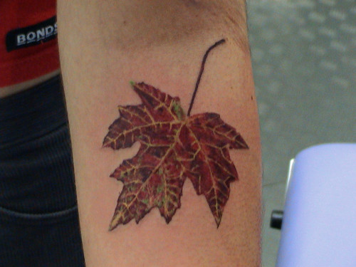 leaf tattoo by Mirek vel Stotker
