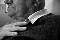 Istanti di mio nonno Giuseppe (4) (bellimarco) Tags: old white man black canon hand grandfather potrait bianco ritratto nero nonno vecchio anziano rughe ruga 40d