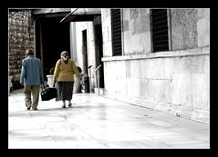 A Little Help Goes A Long Way (janetfo747 ~ Pray for Peace) Tags: old two woman man love wow turkey couple sweet path walk pair 2006 istanbul kind help together angels care comfort topkapipalace tender seniors thegoodlife helping comforting helpinghand hccity