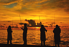 You have to be there at the right time and you've got to be equipped. (sharaff) Tags: sunset red sea sky people sun water colors silhouette yellow sunrise fire lyrics video google fishing nikon sweet sunny hobby moby maldives higher rods equipped