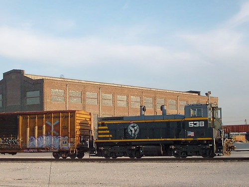 A Belt Railway of Chicago EMD switcher spotting cars at Clearing Yard. Bedford Park Illinois. March 2008. by Eddie from Chicago