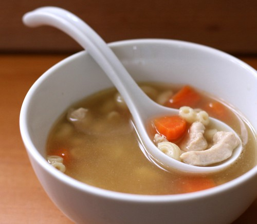 Chicken macaroni soup