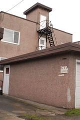 Escape Stairs (from Roof) (mattski) Tags: urban vancouver pavement stucco apartmentblocks dangraham temporaryshelter thesprawl utilitarianarchitecture postconceptual