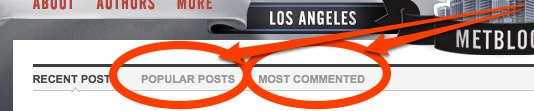 Los Angeles Metblogs New Sorting Options