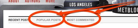 Los Angeles Metblogs New Sorting Options