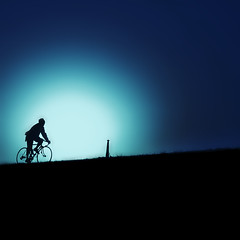 journey (ajpscs) Tags: blue black bicycle silhouette japan japanese cycling tokyo nikon riverside hill journey 日本 nippon 東京 edogawa d300 江戸川 upthehill ajpscs