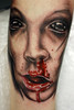Bloody Nose Tattoo Detail Tattooed by Ray