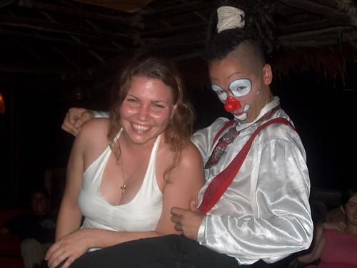 Lucy & a Rasta clown Cebolla