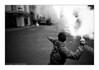 (Hughes Léglise-Bataille) Tags: blackandwhite bw paris france topf25 fishing topf50 fishermen noiretblanc protest demonstration flare 2008 peche fuel manif manifestation marins barnier fumigène pecheurs ministere gasoil
