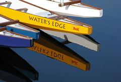 Water's Edge (berglind_hafsteinsdottir) Tags: colour reflection water vancouver boats dragonboats canonpowershotg9 berglindphotography berglindhafsteinsdottir