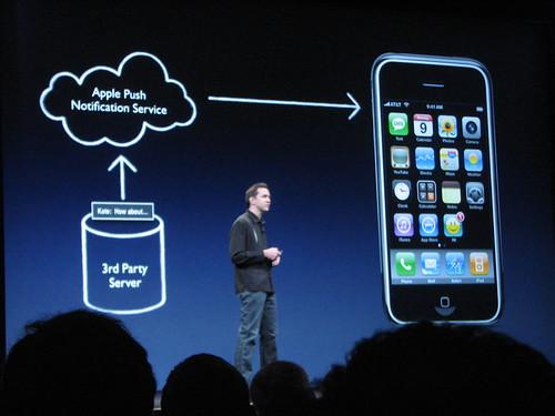 iPhone 2.0 Push Notification Service by chakote.