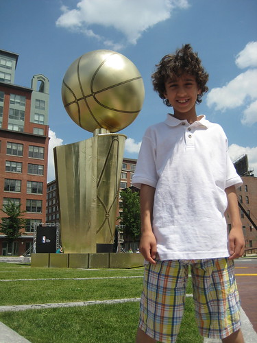 Way to go Celtics, but it looks like someone already has your trophy