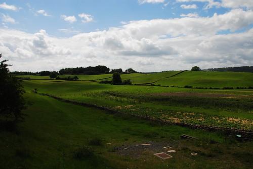 オクセンホルム駅近くの農場