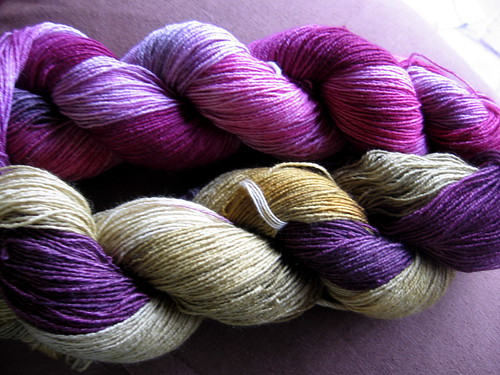 3ply sock yarn, hand dyed