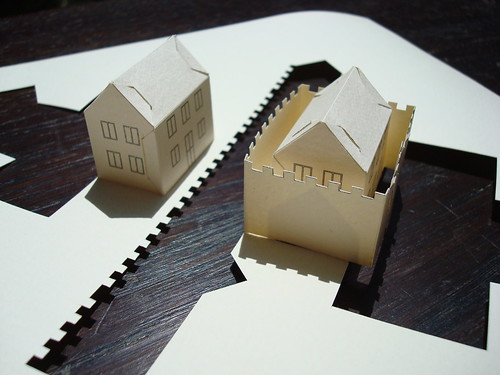 house wall house - paper
