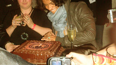 Kandyse cuts the BSG cake.