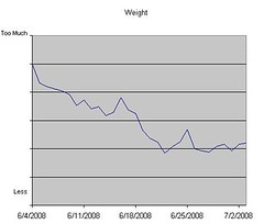 Weight Log as of July 3, 2008