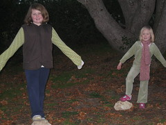 Girls doing a play