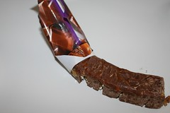 Ewwww... this is what I was confronted with... (Missing foot found on Mars) Tags: bar chocolate eaten stove gross nibble damaged wrapper eww
