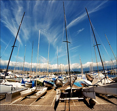 Everyday Geneva (Katarina 2353) Tags: travel blue summer vacation sky white film clouds boats photography schweiz switzerland boat nikon flickr geneva geneve image swiss cielo nubes helvetia genve lakegeneva genf katarinastefanovic katarina2353 gettylicense