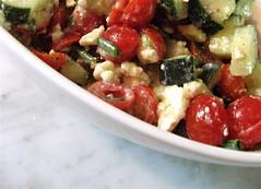 cucumbers, tomatoes, feta