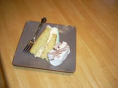 Cake is always better with ice cream