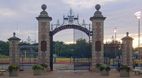 Washington University, in Saint Louis, Missouri - Francis Field gates