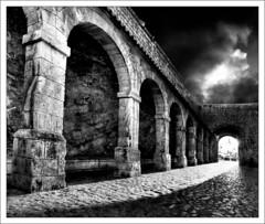 Archlight (Wondertubs) Tags: blackandwhite 20d architecture spain ancient columns historic ibiza eivissa oldtown fortress 1022mm hdr balearics daltvila