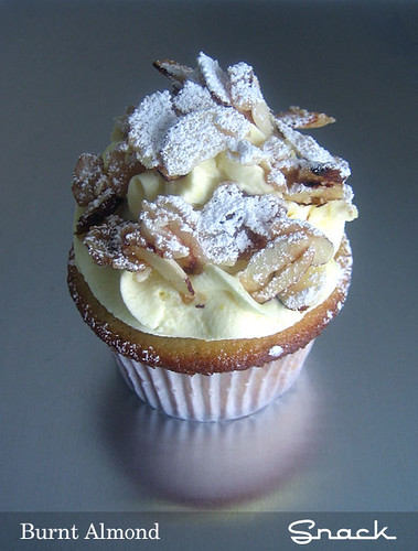 Almond buttermilk cupcake from Snack