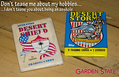 Hobbies (mikepetrucci) Tags: gardenstate desertstorm tradingcards moviequote